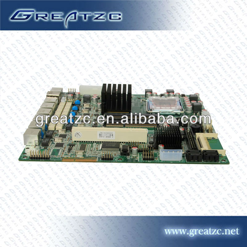 ZC-G416L Mini itx Mainboard, LGA775 Mainboard,LGA 775 Motherboard with 6 LAN Ports