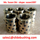 douille graphite coulissant cast bronze graphite bush oilless oilite sliding bushing