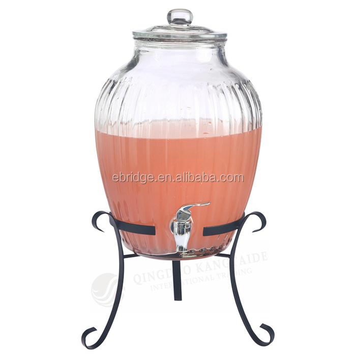 10L Glass Juice Drinking Dispenser Jar & Wine Making Fermentation Tank