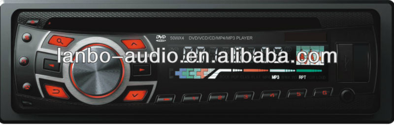 beautiful panel car dvd player with mul-ti color display