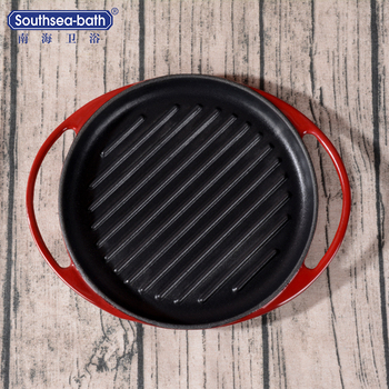 China manufacture eco-friendly rustless promotional cast iron non-stick Frying Pan