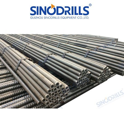 SINODRILLS R thread hollow anchor bar / SDA Mining hollow bar / Self Drilling Anchor Bolt for Foundations with micropiles,