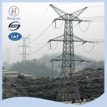 400kv electric transmission line steel tower