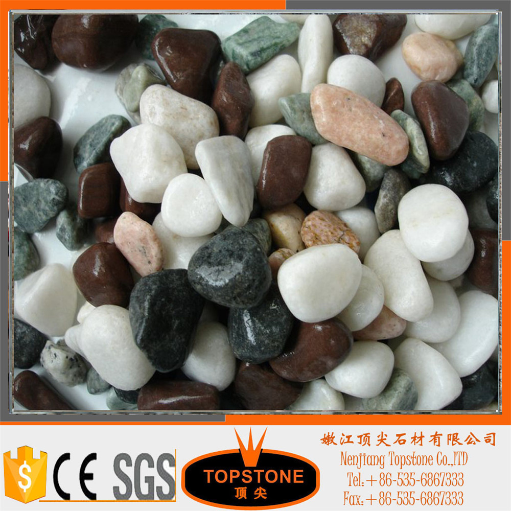 mixed color pebble stone for landscaping
