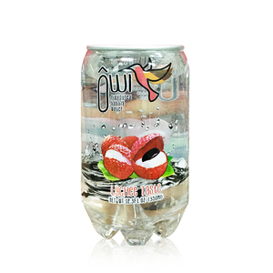 Delicious brand lychee fruit flavour carbonated soft drink in pet bottle