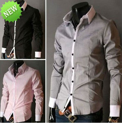 2012 New Mens Luury Stylish Casual Dress Slim Fit Shirts 5 Colours 4 Size ys906