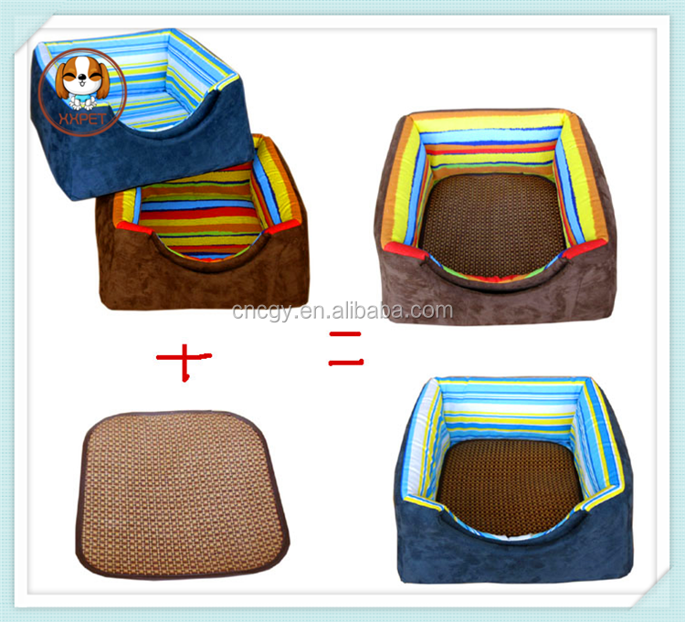 new 2015 pet litter dog kennel cat nest canvas fringe trapezoidal fort dual-use nest