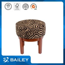 cheap classical indian wood stool / india mooda stool pouf