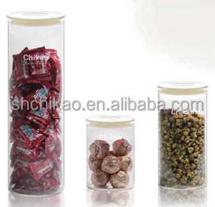 wholesale high quality borosilicate glass jar
