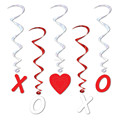 XOXO hearts Hanging swirl ceiling decorations for valentine's day