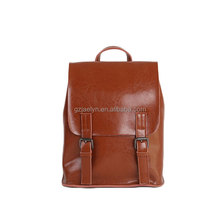 trendy designer leather backpack polished leather satchel bags vintage leather women backpacks