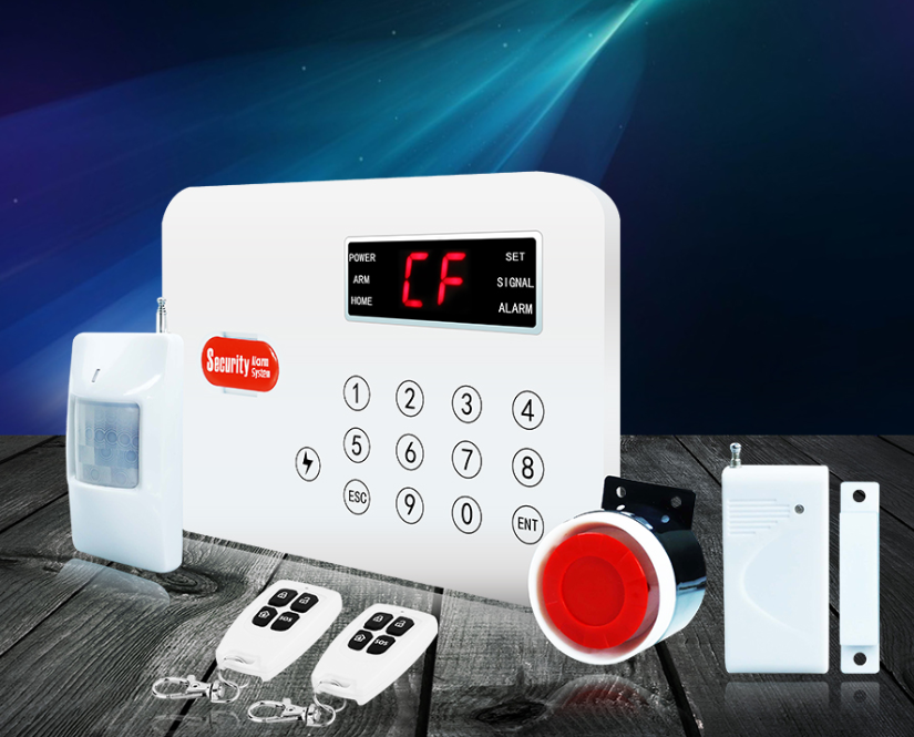 CID compatible door-open and low-battery notice PSTN touch keypad home alarm security systems