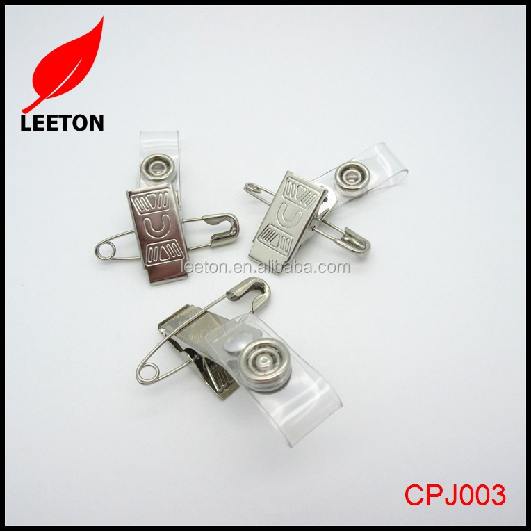 Metal name ID badge clips