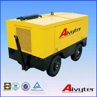 Mining used diesel screw air compressor for paving marking
