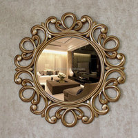 OY-465 The diet type 3D sculpture wall hanging mirror porch decorated metope round mirror