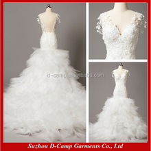 WD061 Elegant fish wedding dresses gowns real