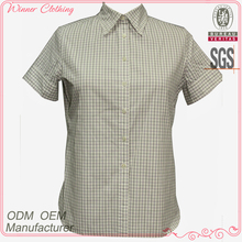 High quality 100% cotton office uniform designs for women blouses