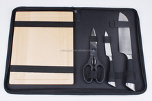 High quality swiss kitchen knife/royalty line knife set with scissor and wooden cutting board