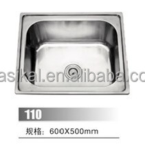 Simple design Kitchen room use 304 stainless steel laundry sink