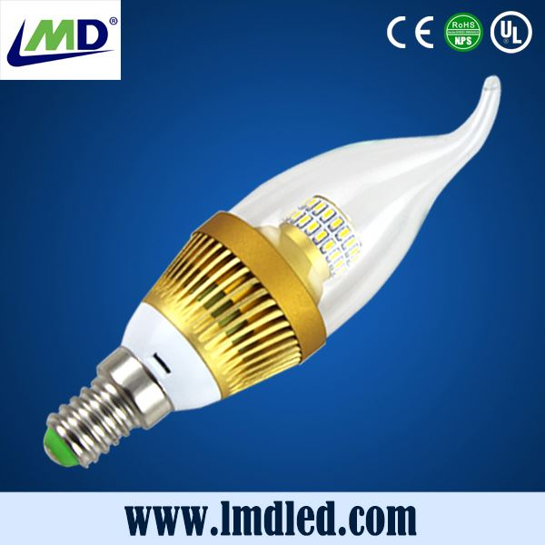 china manufacturer3w 4w 5w led candle lighting