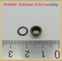 Wholesale antique brass metal iron eyelet for shoes