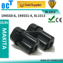 Battery for Makita 10.8V 1.5Ah Li-ion Makita BL1013 194550-6