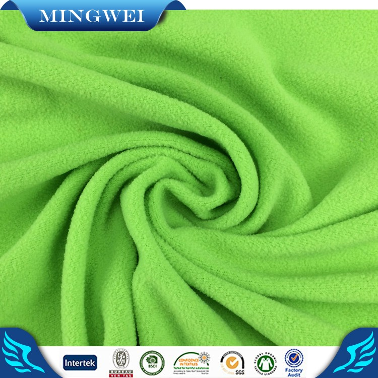 100% polyester Custom Made Dyeing Polar Fleece Blanket Fabric