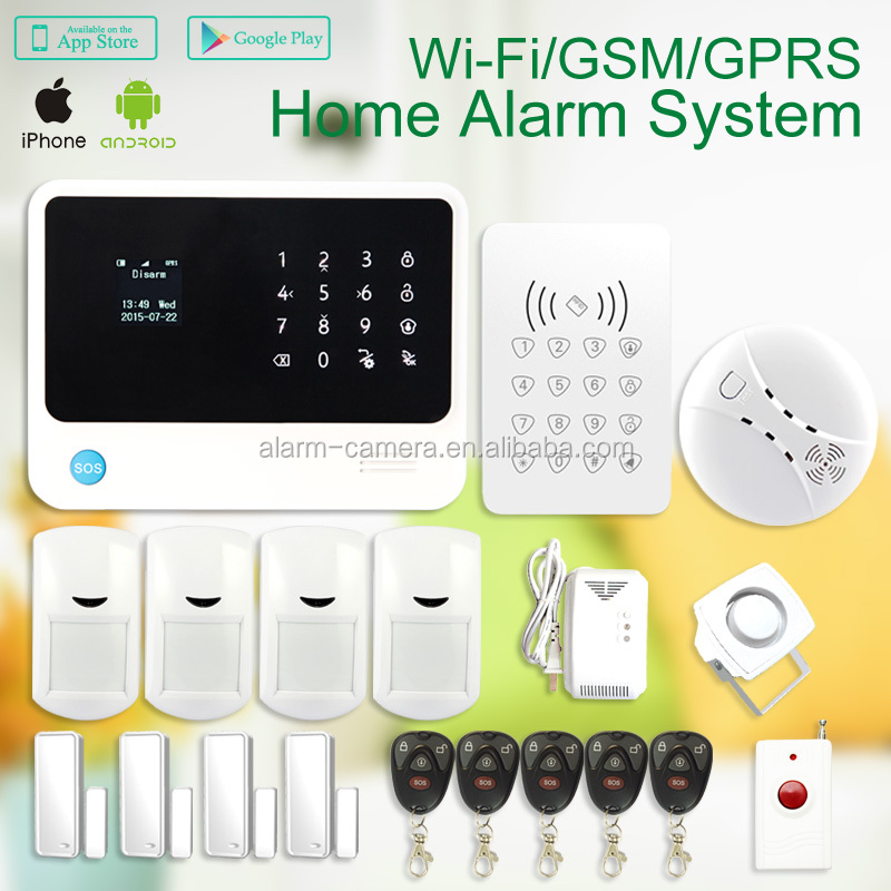 Top sales!!! Wireless WIFI GSM burglary alarm system G90B with Golden <strong>Security</strong> manufacturer