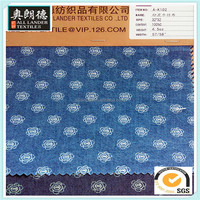 32*32 4.5oz print 100%cotton denim fabric good in material