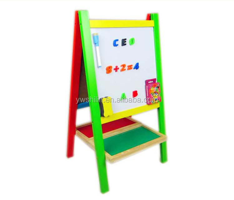 collapsible table for children / magnetic clip with pens / mini magnetic board / diy cardboard toy for kids