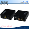 Digital to Analog Optical Coaxial Audio Converter Adapter with 3.5mm & RCA Inputs