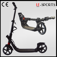 Aluminum adult kick scooter with suspensions