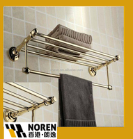 Mirror light Chrome wall Mounted with folding towel rack
