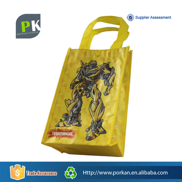 Laminated PP Nonwoven Tote Bag for Shopping