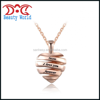 Hot Selling Apple Shape Zinc-alloy Mother Day Necklace