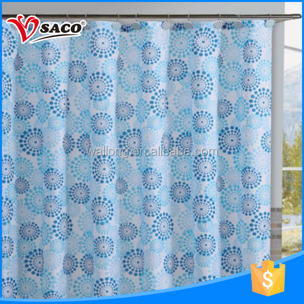 Custom design printed PEVA shower luxury window curtain with high quality