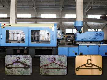 plastic clothes hanger injection molding machine