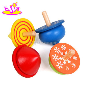 New hottest four in one educational toy wooden spin top for kids W01B077