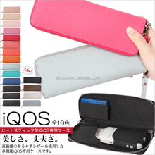 IQOS Case Saffiano leather zippered case for IQOS Electronic Cigarette kits