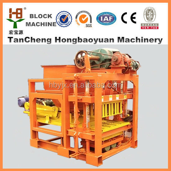 construction paver road brick making equipment QTJ4-28 for manual concrete brick machine sell