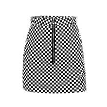 New Arrival Hot Sale High Waist Slim Hip Girls Fashion Style Short Cotton Plaid Skirt