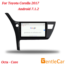 Car Auto Android Radio DVD Player Rear Camera Tracker Bluetooth GPS Navigation For Corolla 2017