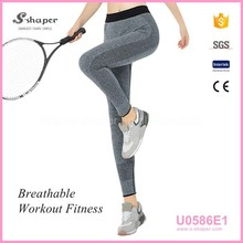 Customized Compression Fitness Capris Spandex Cotton Woman Bulk Workout Printing Active wear Yoga Pants