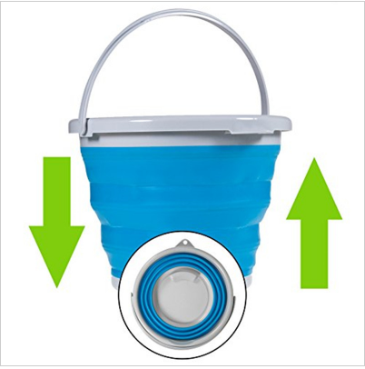 5-10L Foldable Silicone Retractable Ice Bucket Kitchen Storage Bucket Outdoor Camping Hiking Fishing Bucket