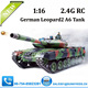 2.4G heng long rc tank German 1:16 Leopard2 A6 Tank