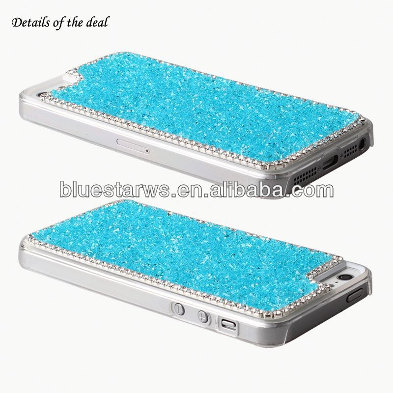 Diamante Case PC Material Cell Phone Shell For Iphone5 rhinestone bumper for iphone5