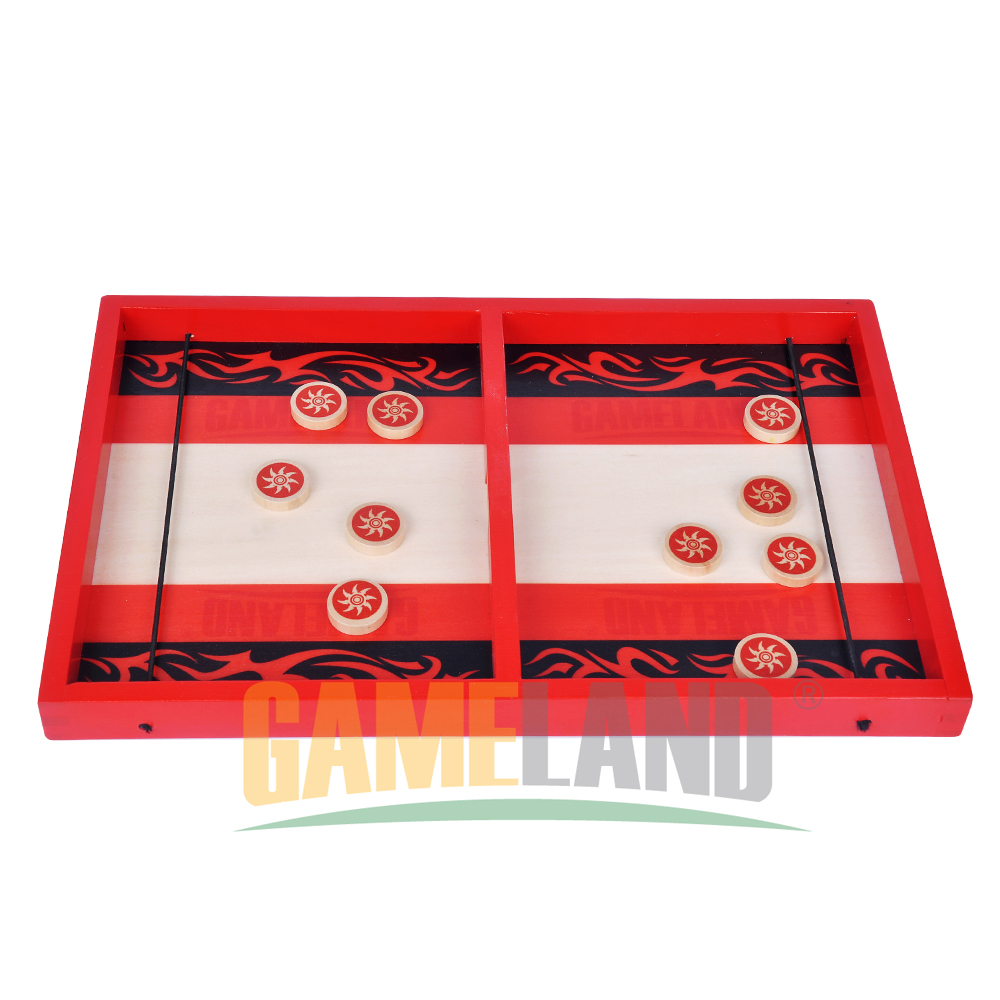 Gameland Ninja Theme Shooting Wooden Game With Wooden Discs