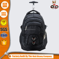 Custom Large capacity Leisure travelling trolley backpack with wheels