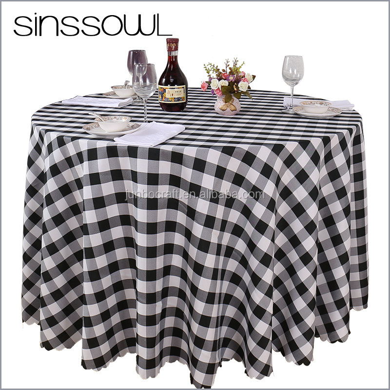 Damask Table Cloth Classic Gridding Printed Dining Table Cover for Home Wedding Banquet Party Catering Star Hotel Linens