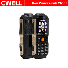 Power Bank Function Low Price S15 Mini Rugged style Highlight Torch 1.77 inch dual sim mobile phone with long battery life